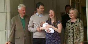 Zweites Enkelkind für Hillary Clinton