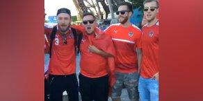 Paris: ÖFB-Fans singen sich fürs Match ein