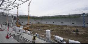 Rapid-Allianzstadion fast fertig