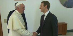 Papst empfing den Facebook-Chef
