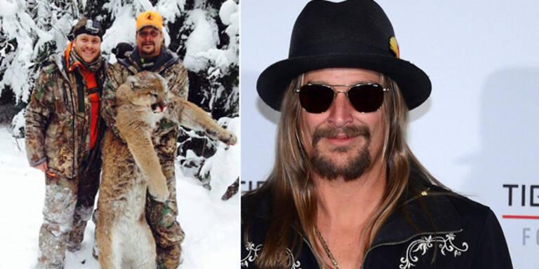 Kid Rock posiert mit getötetem Puma