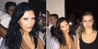 Kim Kardashian mit gebleichten Augenbrauen
