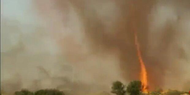 Spektakulärer Feuertornado in USA