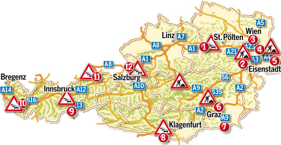 Stau A9 österreich