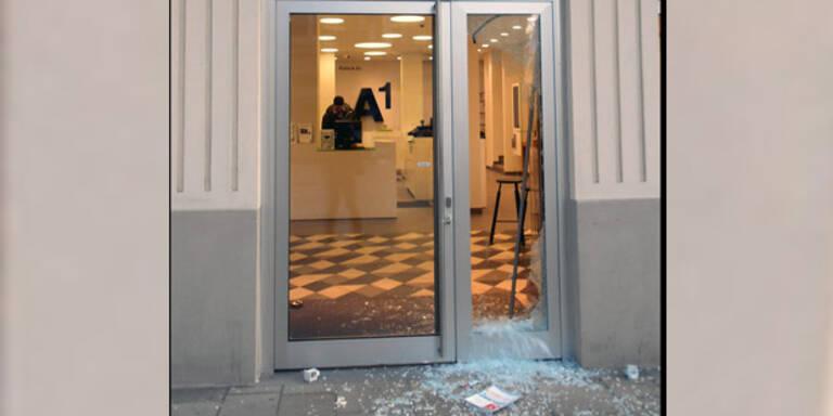 Mariahilferstraße: Spektakulärer Einbruch in A1-Shop