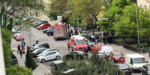 Säureattacke auf Wiener Rettungsauto