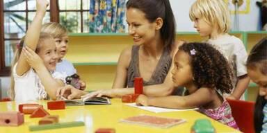 Kindergärten gehen die Pädagoginnen aus