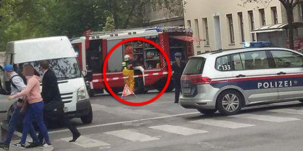 Säureattacke auf Rettungsauto Wien
