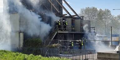 Containerbrand in Wien