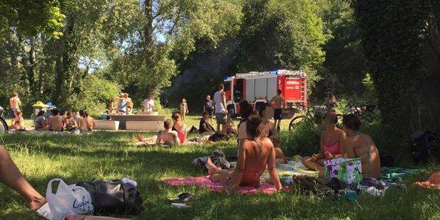 Dramatische Rettungsaktion aus Neuer Donau