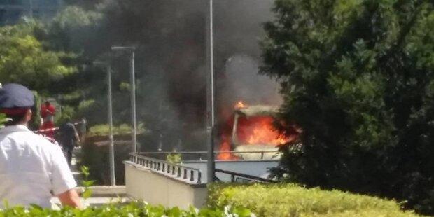 Brand mitten im Wohnpark Alterlaa