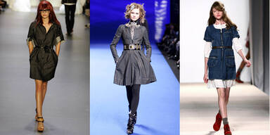 Ein Jeans-Kleid zwei Looks