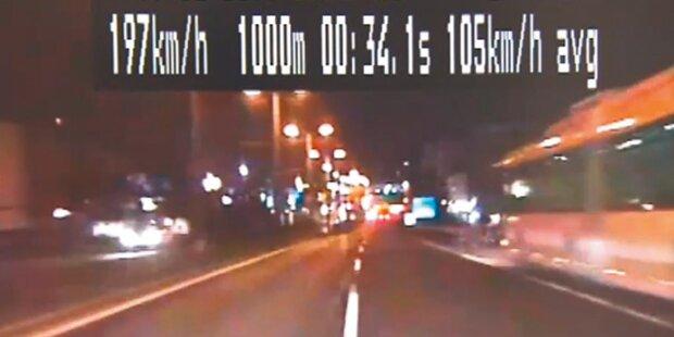 Raser flüchtete mit 200 km/h vor Polizei
