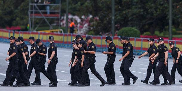 Thronwechsel in Spanien: Polizei