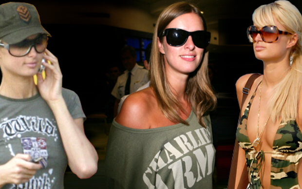 Nicky Hilton als Military-Girl