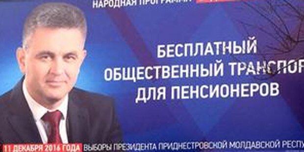 Transnistrien: Krasnoselski gewinnt Präsidentenwahl