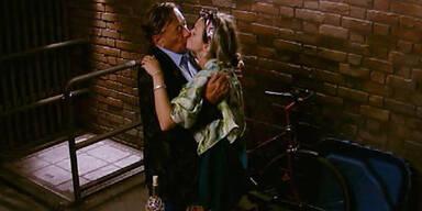 Richard Lugner & Cathy Lugner: Kuss