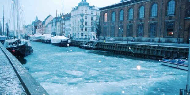 Kälteschock: Kanäle in Venedig zugefroren