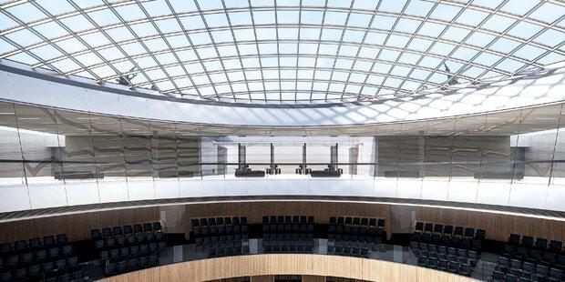 Parlament wird zum Glaspalast