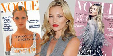 Kate Moss: zum 35. Mal am Cover der britischen Vogue