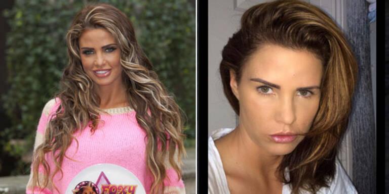 Katie Price: Ungeschminkt & ohne Extensions