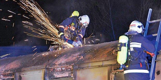 Obdachlose hilflos in Waggon verbrannt