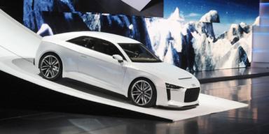 VW-Konzern mit Produktfeuerwerk in Paris