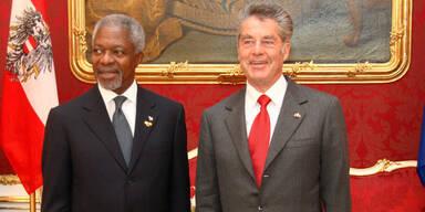 Bundespräsident Heinz Fischer & Kofi Annan