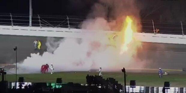 Flammen-Inferno bei NASCAR Rennen