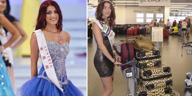 Miss Austria Amina Dagi im Reise-Stress