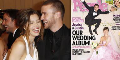 Justin Timberlake & Jessica Biel: Hochzeit
