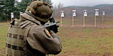Bundesheer Soldat Schießübung