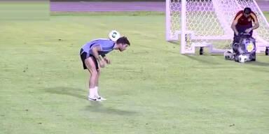 Sergio Ramos zaubert beim Aufwärmen