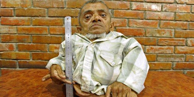Nepalese ist der kleinste Mensch der Welt