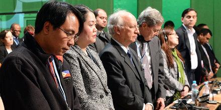 Philippinischer Delegierte kämpfte mit den Tränen