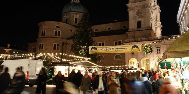 Erfolgreicher Aufbau des Salzburger Christkindlmarktes