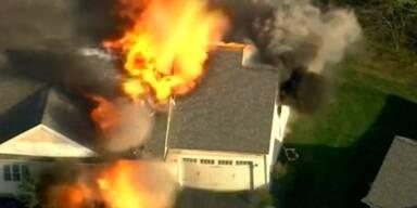 Hausexplosion nach Schießerei in New Hampshire