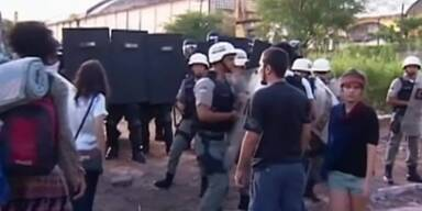 Polizei räumt Camp