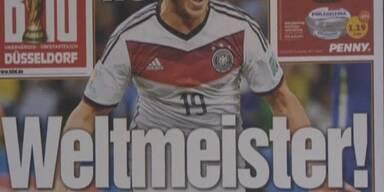 Die Schlagzeilen zum WM-Sieg