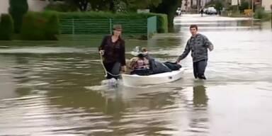 Hochwasser in Kroatien und Bosnien