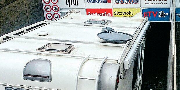 In Tiefgarage: Italiener köpfte sein Wohnmobil
