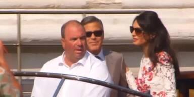 Clooney und Ehefrau ganz entspannt