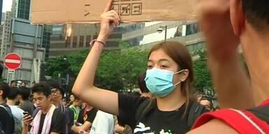 Proteste in Hong Kong weiten sich aus