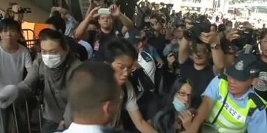 Rangeleien bei Protesten in Hongkong