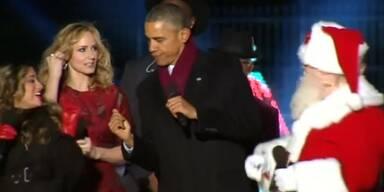 Obama mit Weihnachts-Tanz