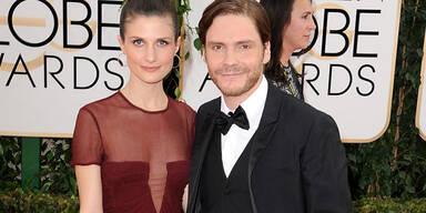 Daniel Brühl & Felicitas Rombold bei den Golden Globes
