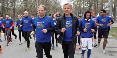 Politiker stürmen Marathon