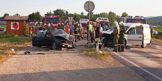 Unfall mit Fahranfänger: Sechs Verletzte