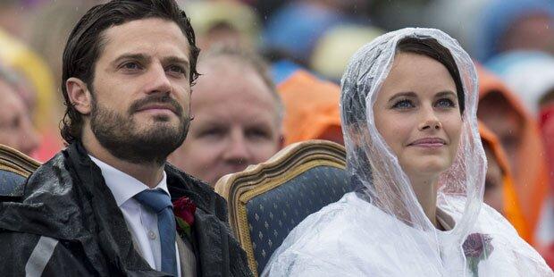 Sofia Hellqvist trotzt dem Regen