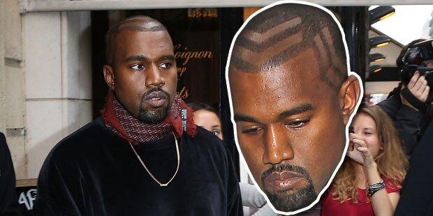 Kanye, ist dir der Rasierer entglitten?